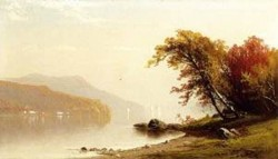 New big autumn on the lake 1866