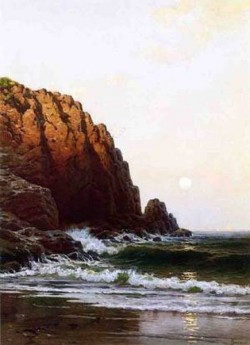 New big moonrise coast of maine date unknown
