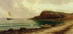 Seascape with Dories and Sailboats