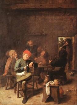 Peasants Smoking And Drinking