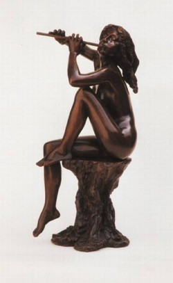 Small nude with flute