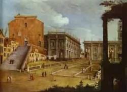 Capitol square in rome 1749 xx szepmuveseti muzeum budapest