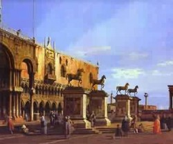 Capriccio the horses of san marco in the piazzetta 1743 xx r