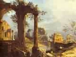 Capriccio view with ruins 1740 xx royalollection uk