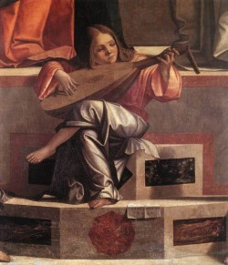 Carpaccio Presentation of Jesus in the Temple detail