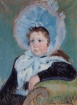 Dorothy in a Very Large Bonnet and a Dark Coat