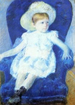 Elsie in a Blue Chair