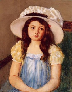Francoise Wearing a Big White Hat