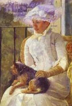 Su s an on a balcony holding a dog 1882 xx the corcoran gallery of art washington dc usa