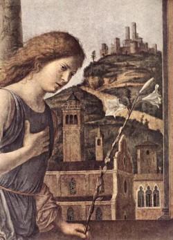 The Annunciation detail