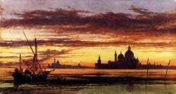 Sunset Sky Salute And San Giorgio Maggiore