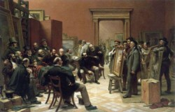 The Council of the Royal Academy selecting Pictures for Exhibition 1876 CR
