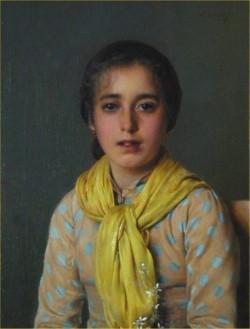 Girl with Yellow Shawl
