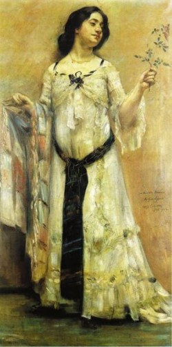 Portrait of Charlotte Berend in a White Dress