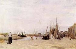 Fishermens Quay Trouville 1830 1840