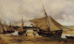 Fishing Boars Beached in the Chanel 1830