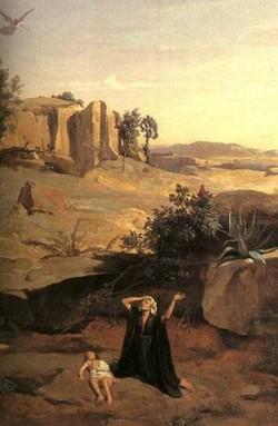 Hagar in the wilderness detail 1835 xx metropolitan museum of art new york
