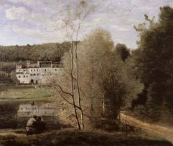 The Pond and the Cabassud Houses at Ville dAvray 1855 1860