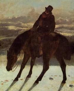 Hunter on Horseback Redcovering the Trail 1864