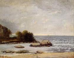 Seascape at Saint Aubin 1872