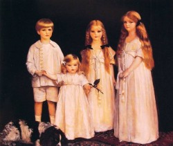 Portrait of Fraunces Beatrice James and Synfye Children of James Christie ESQ