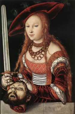 The elder judith with head of holofernes