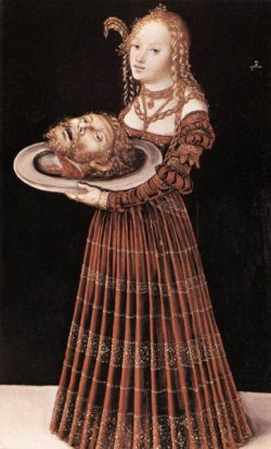 The elder salome with head of st john the baptist