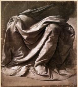 Leonardo da Vinci Garment study for a seated figure