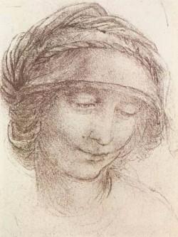 Leonardo da Vinci Head of a woman c1508