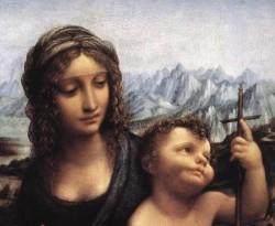 Leonardo da Vinci Madonna with the Yarnwinder after 1510 detail1
