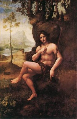 Leonardo da Vinci St John in the Wilderness Bacchus