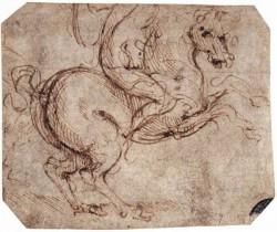 Leonardo da Vinci Study of a rider
