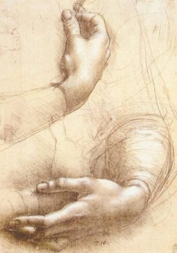 Leonardo da Vinci Study of hands