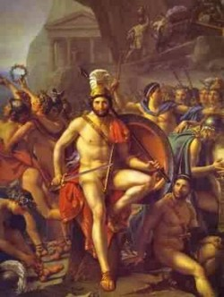 Leonidas at thermopylae detail 1814 xx louvre paris france