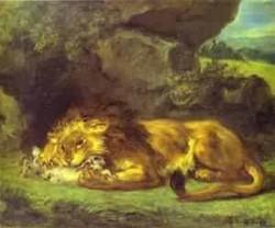 Lion devouring a rabbit xx louvre paris france
