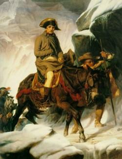 Napolean crossing the alps 1850