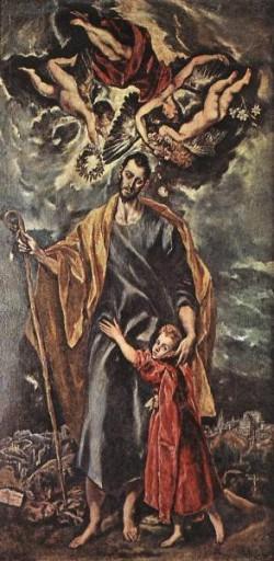 GRECO El St Joseph and The Christ Child
