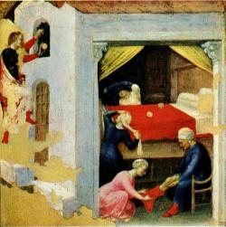 GENTILE DA FABRIANO Quaratesi Altarpiece Poor Maidens