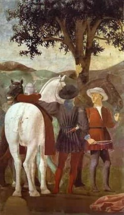 Legend of the true cross adoration of the wood detail 1452 1