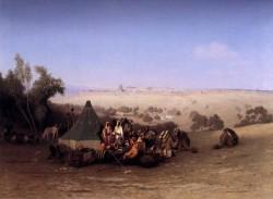An Arab Encampment On The Mount Olives With Jerusalem Beyond
