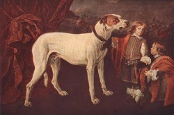 Big Dog Dwarf And Boy