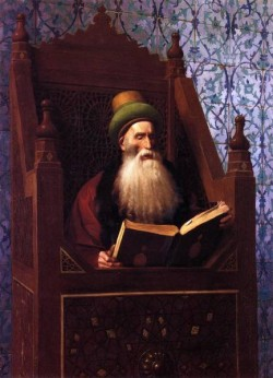 Mufti Reading in His Prayer Stool