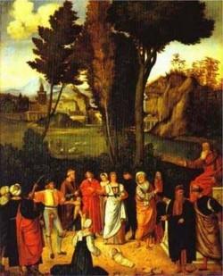 The judgment of solomon 1495 1496 galleria degli uffizi florence italy