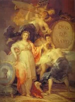 Allegory of the city of madrid 1810 museo municipal madri