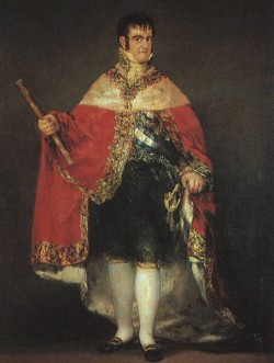 Ferdinand 7 in his Robes of State CGF