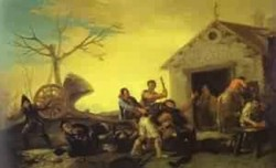 Fight at the cock inn 1777 private collection