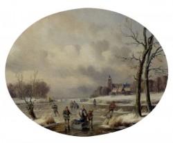 Skaters On A Frozen Waterway