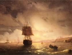 The Harbor At Odessa On The Black Sea