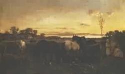 Grazing horses 1874
