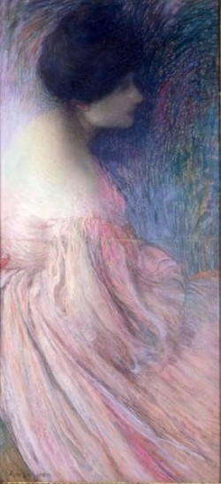 Edmond Aman Jean Femme en robe rose